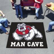 Fresno State Bulldogs Black Man Cave Tailgate Mat