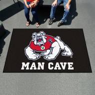 Fresno State Bulldogs Black Man Cave Ulti-Mat Rug