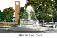 Fresno State Bulldogs Campus Images Lithograph