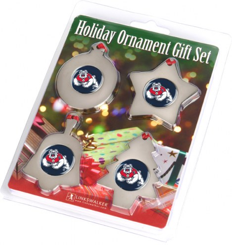 Fresno State Bulldogs Christmas Ornament Gift Set