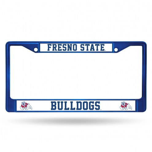Fresno State Bulldogs Colored Chrome License Plate Frame