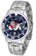 Fresno State Bulldogs Competitor Steel AnoChrome Color Bezel Men's Watch