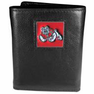 Fresno State Bulldogs Deluxe Leather Tri-fold Wallet in Gift Box