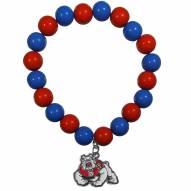 Fresno State Bulldogs Fan Bead Bracelet