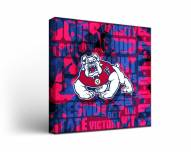 Fresno State Bulldogs Fight Song Canvas Wall Art