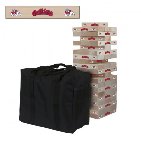 Fresno State Bulldogs Giant Wooden Tumble Tower Game