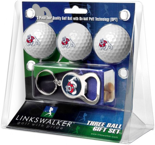 Fresno State Bulldogs Golf Ball Gift Pack with Key Chain