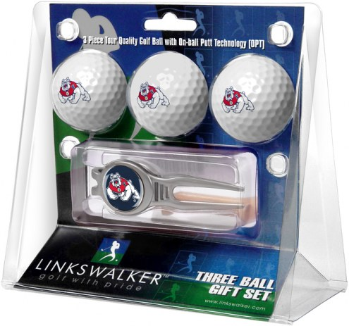 Fresno State Bulldogs Golf Ball Gift Pack with Kool Tool