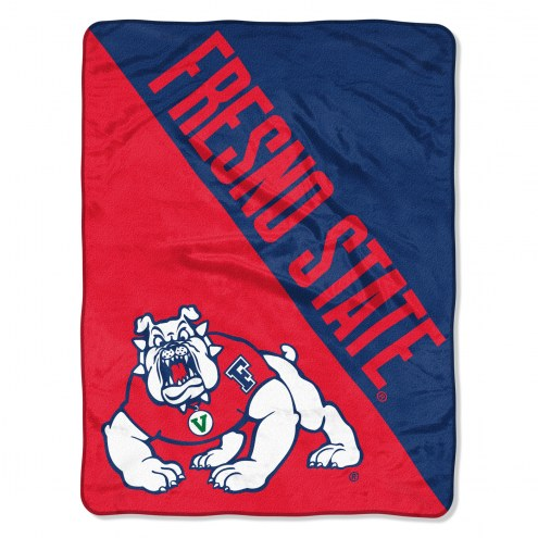 Fresno State Bulldogs Halftone Raschel Blanket