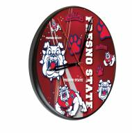 Fresno State Bulldogs Digitally Printed Wood Clock