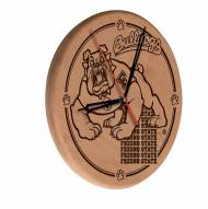 Fresno State Bulldogs Laser Engraved Wood Clock
