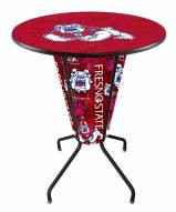 Fresno State Bulldogs Indoor Lighted Pub Table