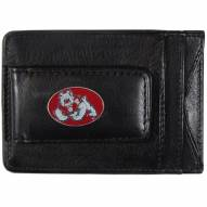 Fresno State Bulldogs Leather Cash & Cardholder