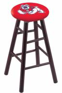 Fresno State Bulldogs Maple Wood Bar Stool
