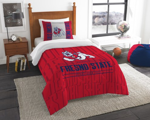 Fresno State Bulldogs Modern Take Twin Comforter Set