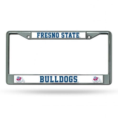 Fresno State Bulldogs NCAA Chrome License Plate Frame