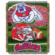 Fresno State Bulldogs NCAA Woven Tapestry Throw Blanket
