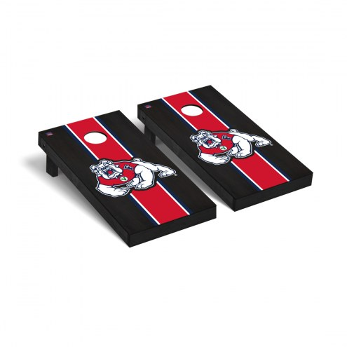 Fresno State Bulldogs Onyx Stained Cornhole Game Set