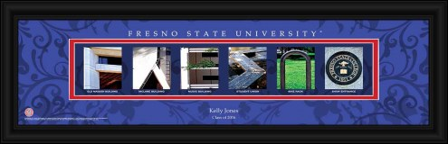 Fresno State Bulldogs Personalized Campus Letter Art