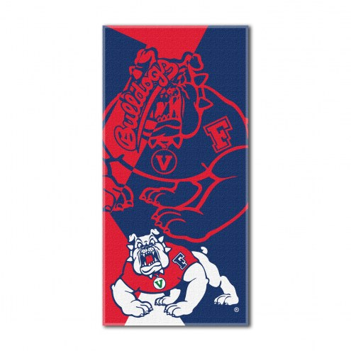 Fresno State Bulldogs Puzzle Beach Towel