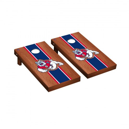Fresno State Bulldogs Rosewood Stained Cornhole Game Set