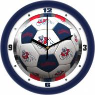 Fresno State Bulldogs Soccer Wall Clock