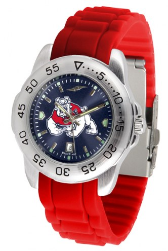 Fresno State Bulldogs Sport Silicone Men's Watch