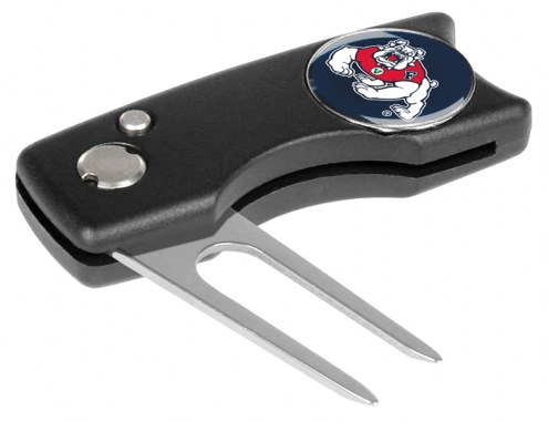 Fresno State Bulldogs Spring Action Golf Divot Tool
