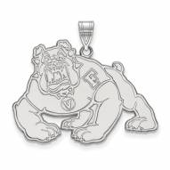 Fresno State Bulldogs Sterling Silver Extra Large Pendant