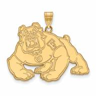 Fresno State Bulldogs Sterling Silver Gold Plated Extra Large Pendant