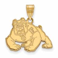 Fresno State Bulldogs Sterling Silver Gold Plated Medium Pendant