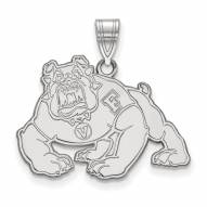 Fresno State Bulldogs Sterling Silver Large Pendant
