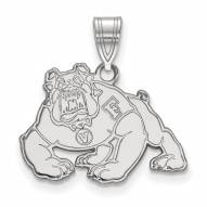 Fresno State Bulldogs Sterling Silver Medium Pendant
