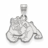 Fresno State Bulldogs Sterling Silver Small Pendant