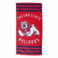 Fresno State Bulldogs Stripes Beach Towel