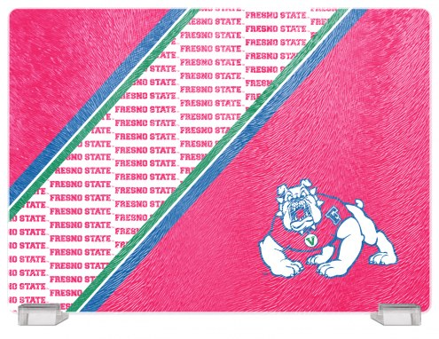 Fresno State Bulldogs Tempered Glass Cutting Board