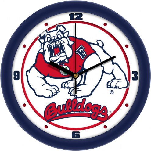 Fresno State Bulldogs Traditional Wall Clock