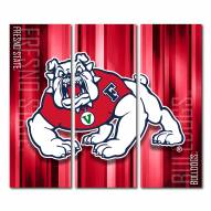 Fresno State Bulldogs Triptych Rush Canvas Wall Art