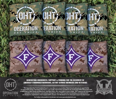 Furman Paladins Operation Hat Trick Cornhole Bag Set
