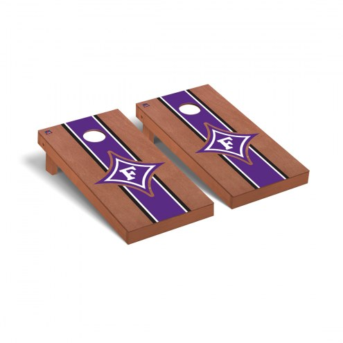 Furman Paladins Rosewood Stained Cornhole Game Set