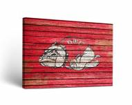 Gardner-Webb Bulldogs Weathered Canvas Wall Art