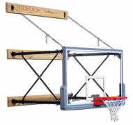 Gared Four-Point Stationary Wall Mount Basketball Hoop
