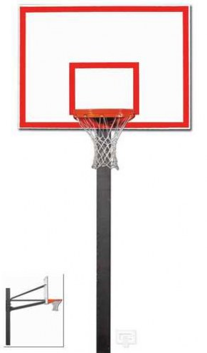 "Gared Endurance Fixed Height Basketball Hoop with 60"" Steel Backboard"