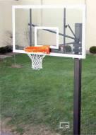 "Gared Endurance Fixed Height Basketball Hoop with 72"" Glass Backboard"