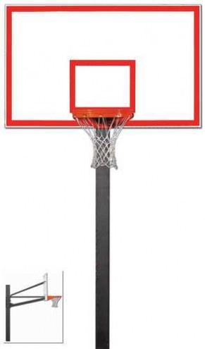 "Gared Endurance Fixed Height Basketball Hoop with 72"" Steel Backboard"