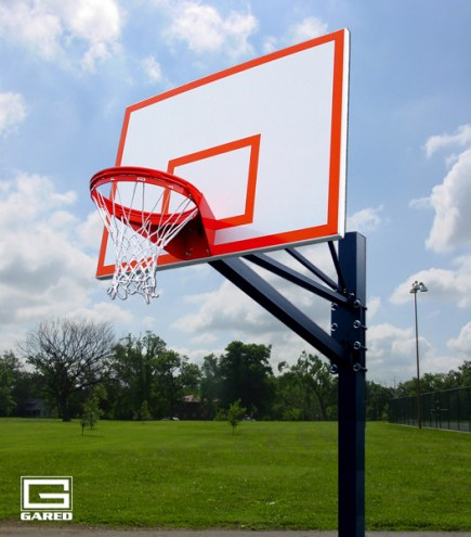 "Gared Endurance Playground Basketball System - 72"" Backboard"