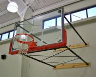 """Gared Four-Point Stationary Wall Mount Basketball Backstop with 63"""" x 36"""" Backboard Mounting"""