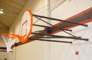 Gared Side-Fold Wall Mount Basketball Hoop with Steel Board and Electric Height Adjuster