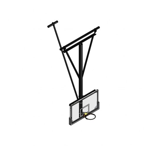 Gared Stationary / Ceiling Braced Ceiling Suspended Basketball Backstop