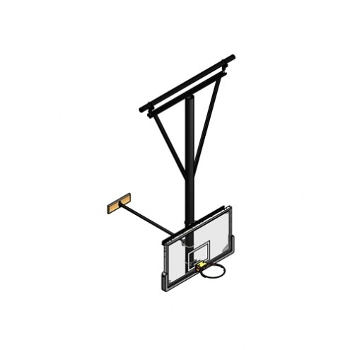Gared Stationary / Wall Braced Ceiling Suspended Basketball Backstop